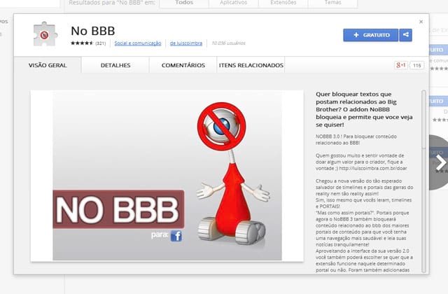 Como bloquear conteúdos relacionados ao BBB15 no Chrome?