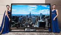 Samsung apresenta TV UHD de 105 polegadas e TV dobrável