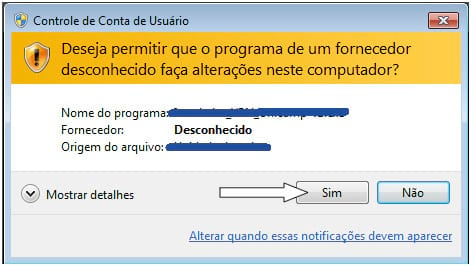 Janelinha chata de permição do Windows