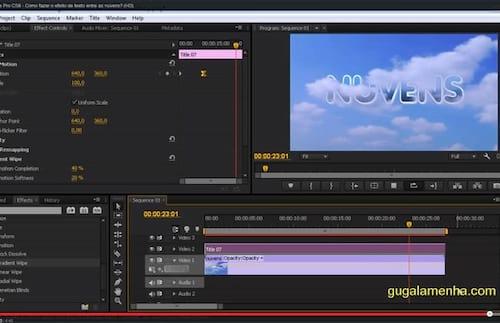 Adobe Premiere Pro CS6 - Efeito de texto entre nuvens
