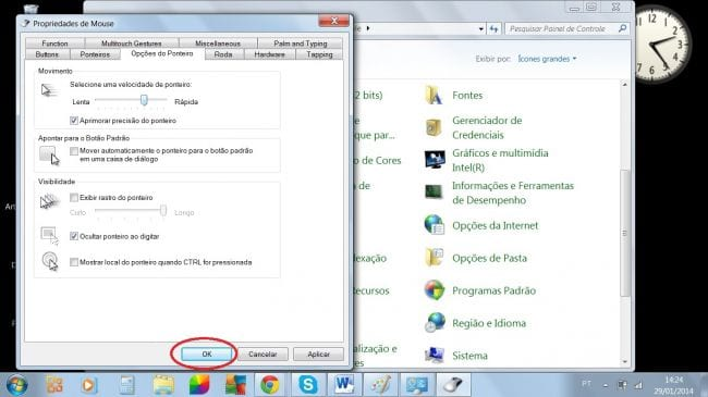 Como aumentar a velocidade do mouse no Windows?