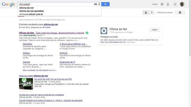 """www.google.com.br pesquisando """"oficina da net"""""""