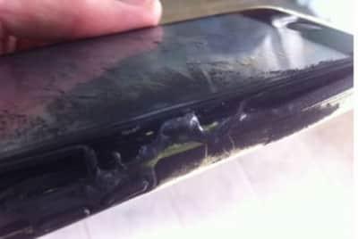 Jovem fica ferida ap�s iPhone 5C pegar fogo