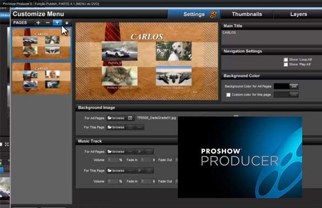 Função Publish no Proshow Producer 5 - Parte 4.1