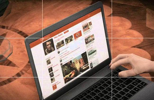 Easter Egg Nico Bellic (protagonista de GTA IV) no LifeInvader, rede social de GTA V