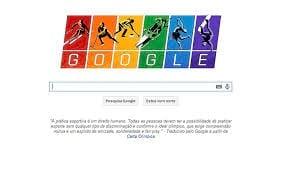 Cores da bandeira Gay são expostas no Doodle comemorativo das Olimpíadas de Inverno