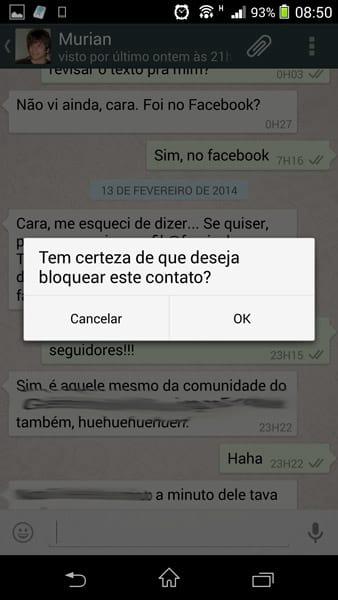 Como bloquear um contato no WhatsApp?