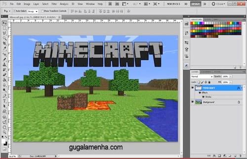 Photoshop: Como criar um texto com fonte Minecraft em 3D