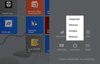 Como ativar o bot�o hibernar no Windows 8