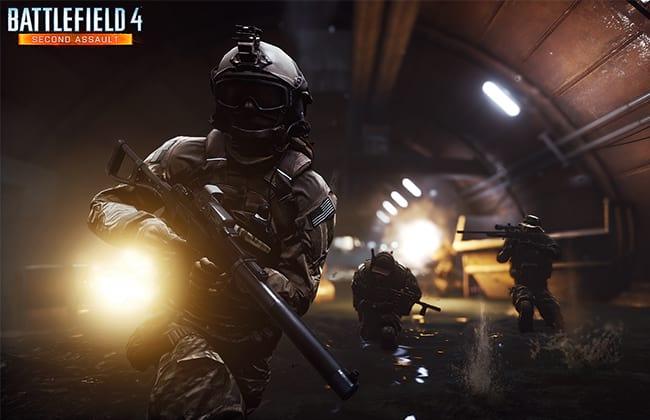 Um dos mapas da dlc, Operation Metro em Battlefield 4