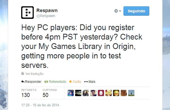 Beta de Titanfall é liberada para todos os jogadores do PC