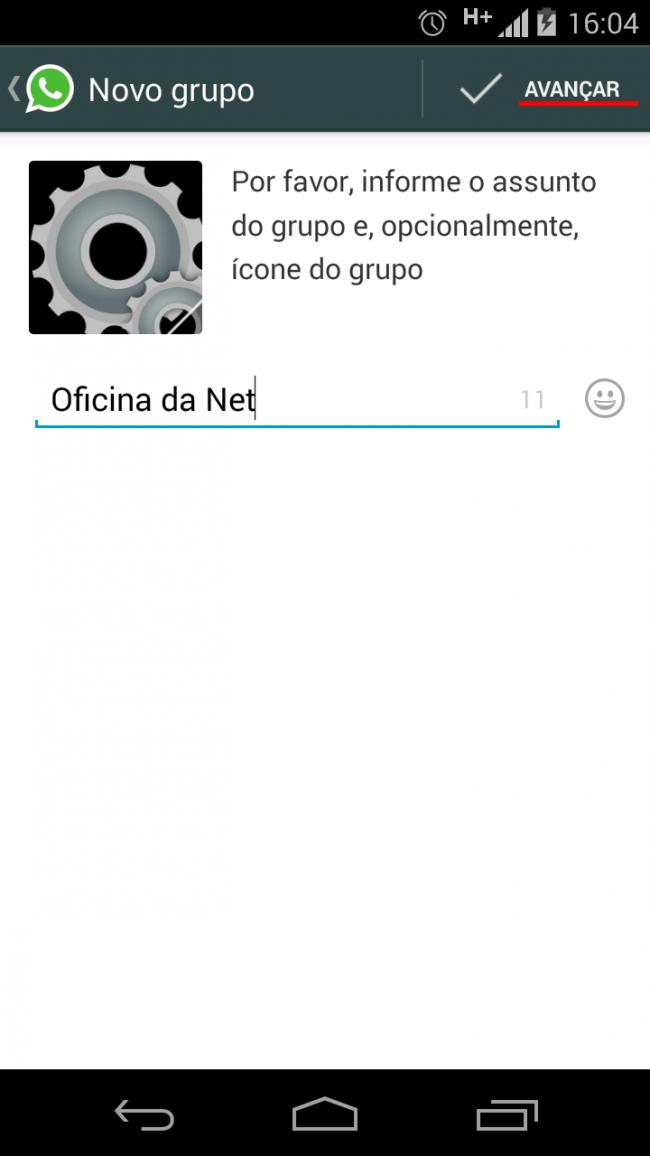 Criando um grupo no WhatsApp #3