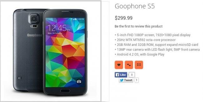 Recém lançado, o Galaxy S5 já tem um clone