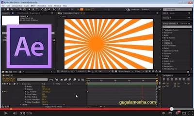 Como criar um background animado no After Effects - Raios de sol
