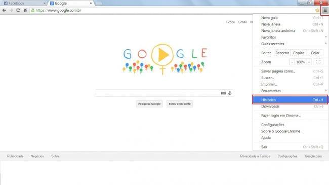 Como apagar o histórico de navegação do Google Chrome