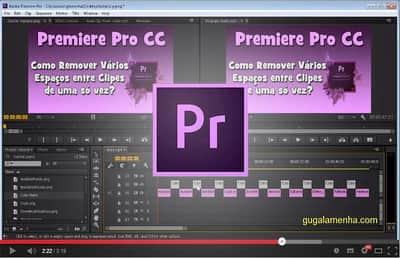 Adobe Premiere: Como remover vários espaços entre clipes de uma vez