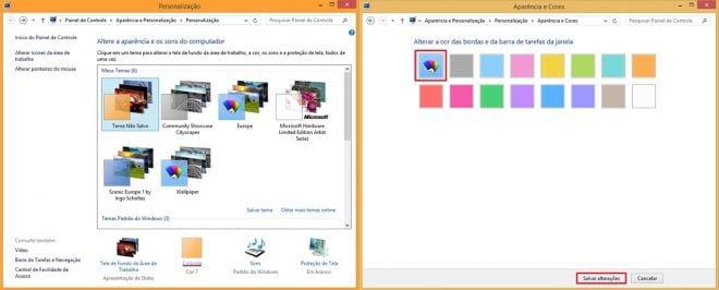 Criando temas para o Windows 8