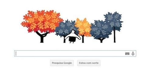 Doodle do Google marca início do outono