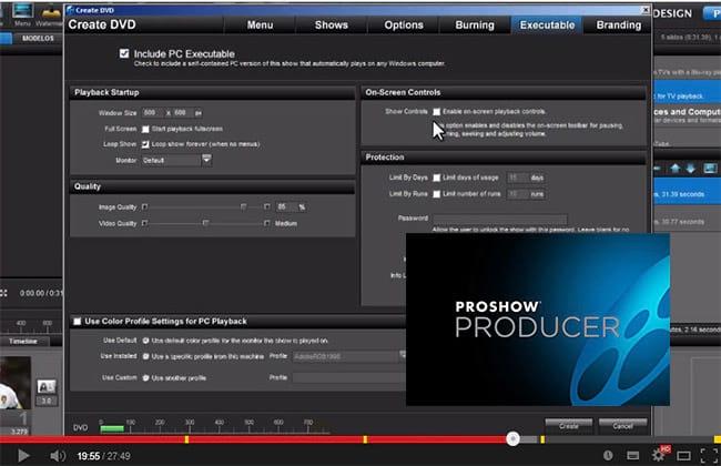 Função Publish no Proshow Producer 5 - Parte 6 - Burning