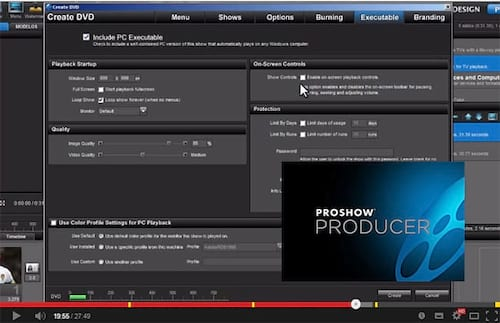 Função Publish no Proshow Producer 5 - Parte 6 - Burning
