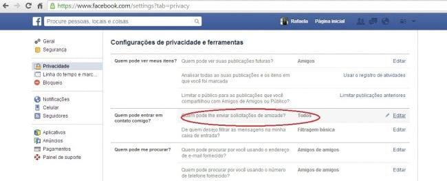 Como bloquear solicitações de amizade de estranhos no Facebook