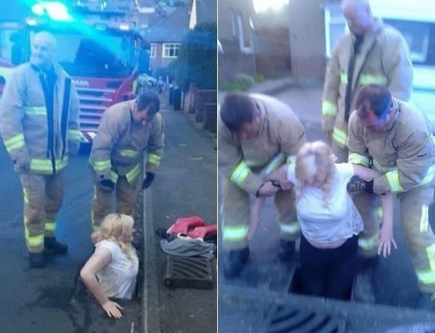 Adolescente entala em bueiro ao tentar resgatar iPhone