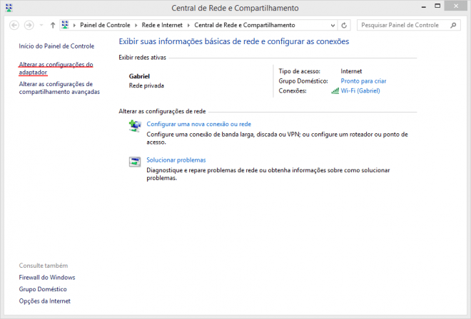 Configurando um DNS externo no Windows