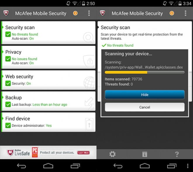 McAfeeMobile Security