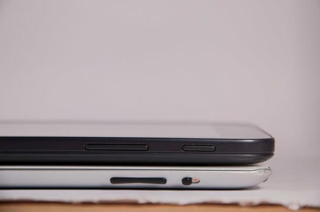 Comparação com iPad