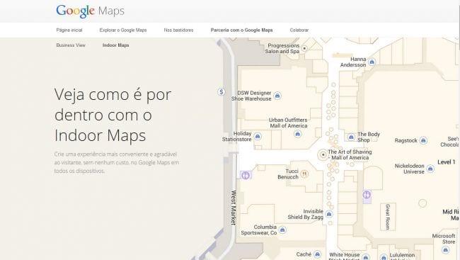 Visite aeroportos, estádios de futebol e shoppings centers através do Google Indoor Maps