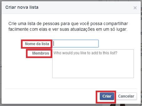 Como criar uma lista de amigos no Facebook