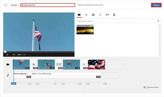 Publicando o vídeo