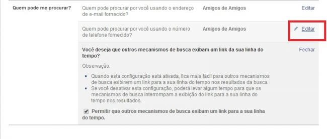 Como ocultar meu perfil do Facebook nas buscas do Google?