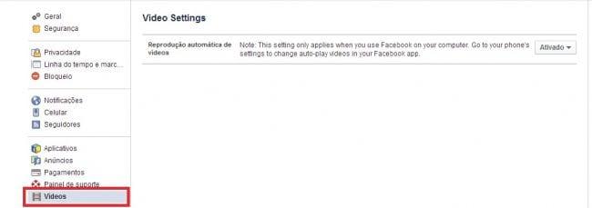 Saiba como desativar a reprodução automática de vídeos no Facebook