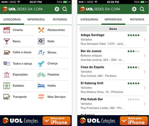 Apps para Copa do Mundo 2014