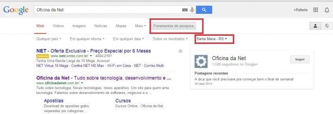 Saiba como fazer pesquisa no Google direcionada por região