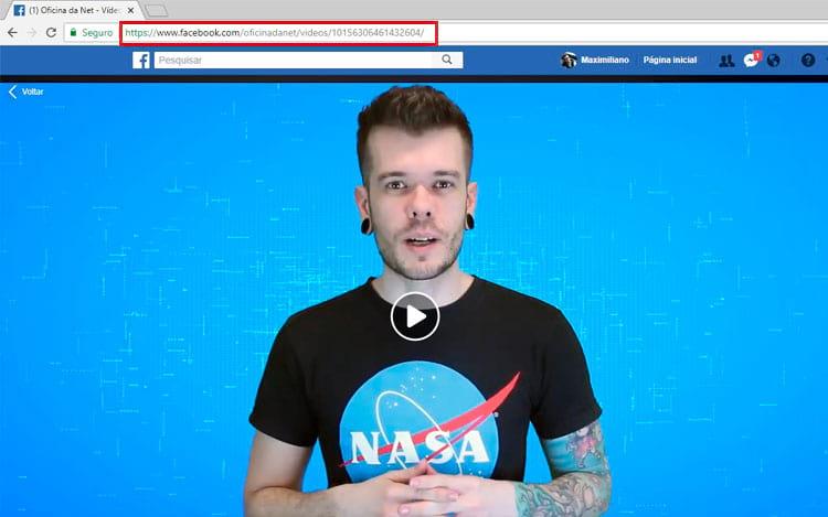 Copie o link do vídeo que você deseja fazer o download