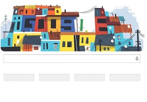 Doodle do Google é inspirado nas favelas cariocas