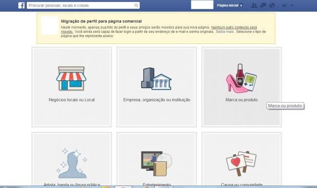 Como migrar o perfil para fanpage no Facebook