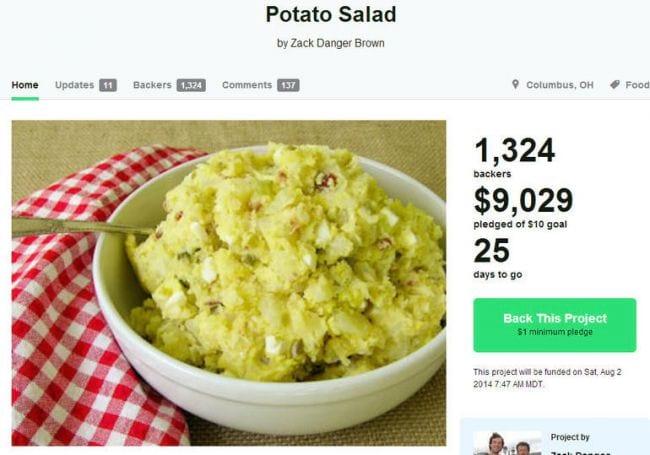Com vaquinha, homem arrecada US$ 11 mil para fazer salada de batatas