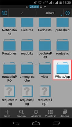 Como ocultar imagens e vídeos do Whatsapp?