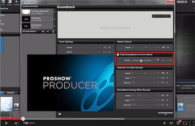 Proshow Producer 6 - Novidades no efeito Fade out