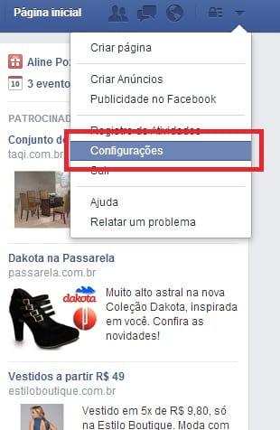 Como alterar a senha no Facebook 198ade87934