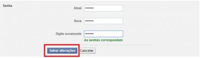 Como alterar a senha no Facebook