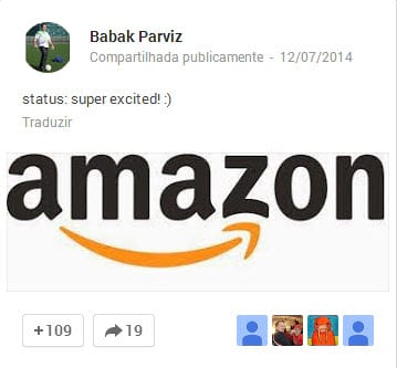 Amazon contrata Babak Parviz, o criador do Google Glass.