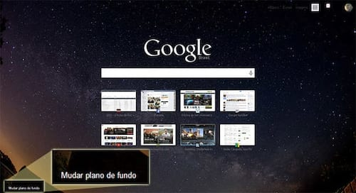 Como modificar o fundo da página inicial do Google