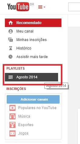 Como criar playlists no YouTube