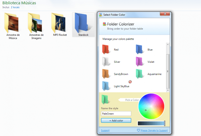 Como mudar a cor das pastas do Windows com o Folder Colorizer
