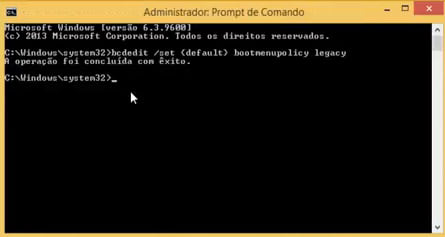 Habilitando o modo de segurança no Windows 8