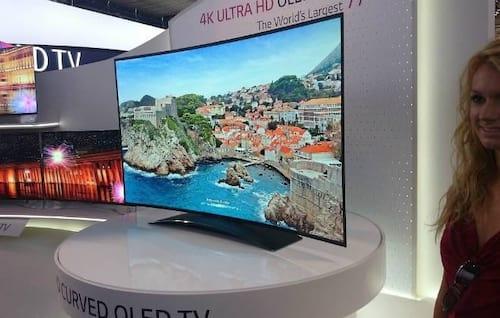 Primeira TV 4K OLED curva da LG será lançada no mercado